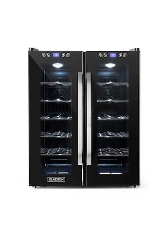 Klarstein Weinkühlschrank Weinkühler Weinklimaschrank 67L Glastüren 11 - 18C »Saloon Napa« kaufen