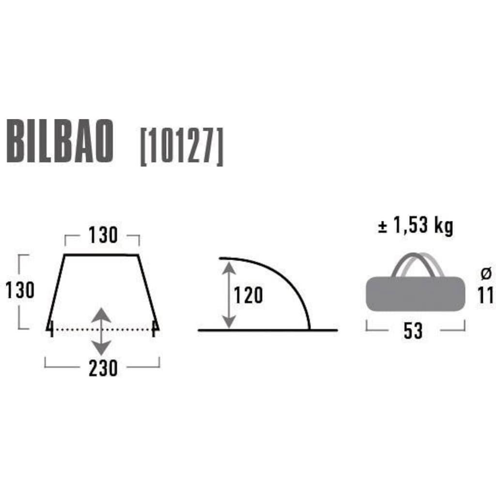 High Peak Strandmuschel »Bilbao«, (mit Transporttasche)