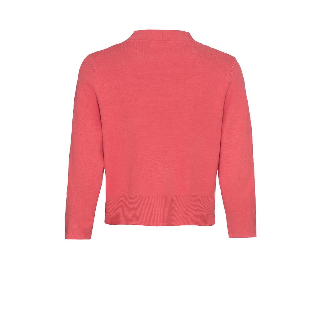 bianca Strickjacke »VALENTE«, in aktueller Trendfarbe mit femininen Details