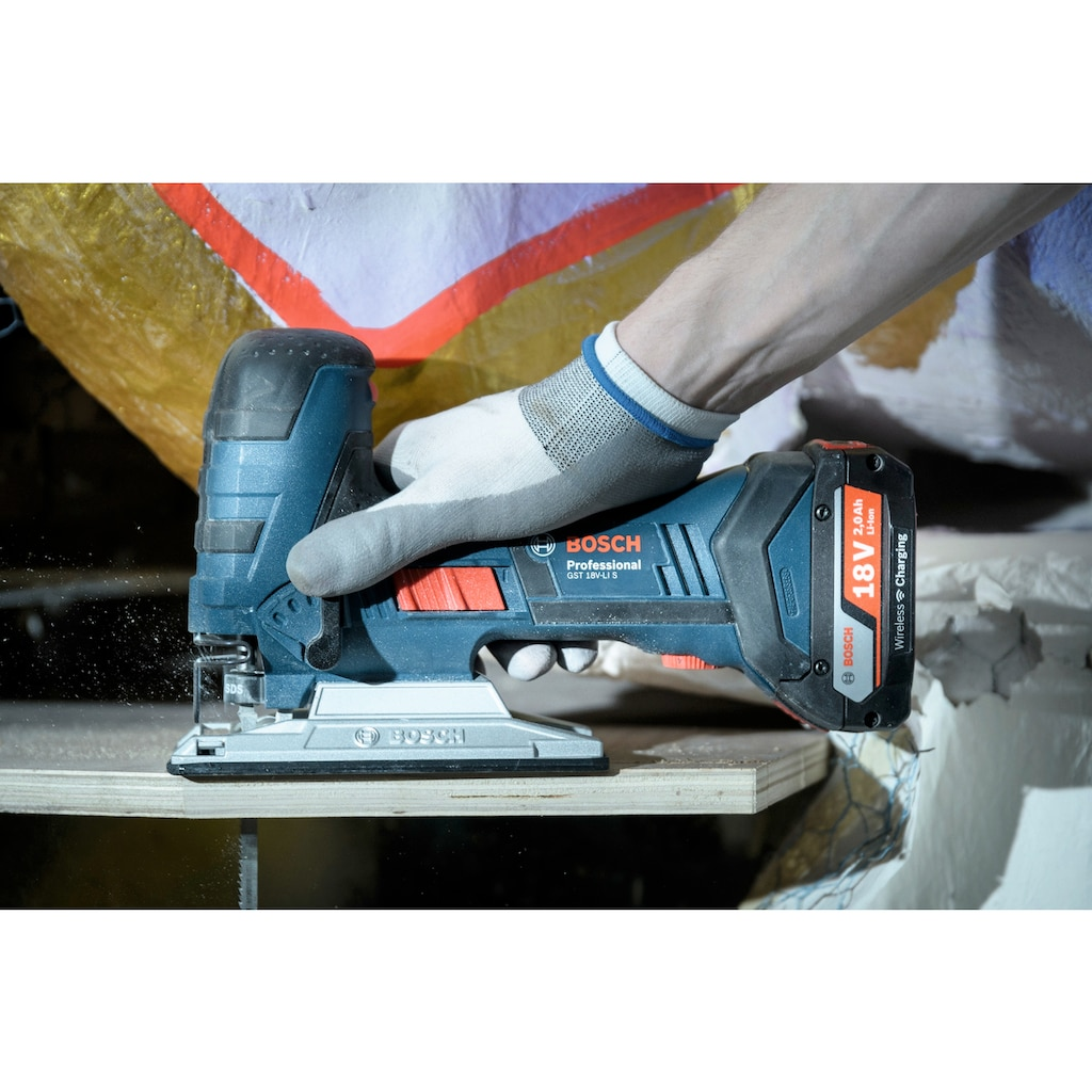 Bosch Professional Stichsäge »GST 18V-LI S«, 18 V, mit Akku und Ladegerät