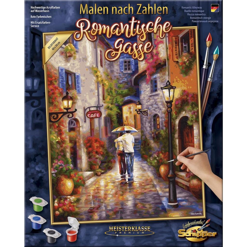 Schipper Malen nach Zahlen »Meisterklasse Premium, Romantische Gasse«, Made in Germany