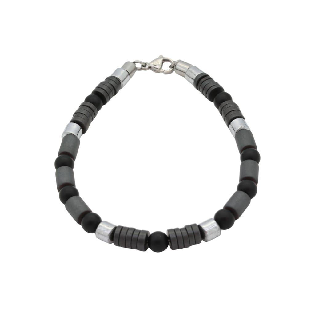 Firetti Armband »Design im Formenmix, matt und glänzend«, mit Onyx und Hämatit, Made in Germany
