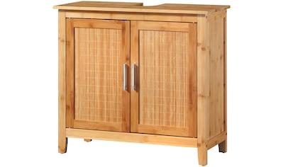 welltime Waschbeckenunterschrank »Bambus«, Badschmöbel mt Siphonausschnitt, Breite 67 cm kaufen