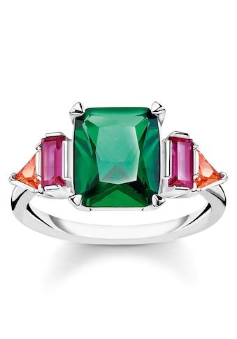 THOMAS SABO Silberring »Farbige Steine Silber, TR2262 - 477 - 7 - 52, 54, 56, 58, 60« kaufen