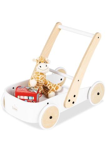 Pinolino® Lauflernwagen »Fiete, weiß«, aus Holz kaufen