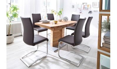 MCA furniture Esstisch »Cuneo«, Esstisch in Bootsform mit 2 Säulen, ausziehbar kaufen