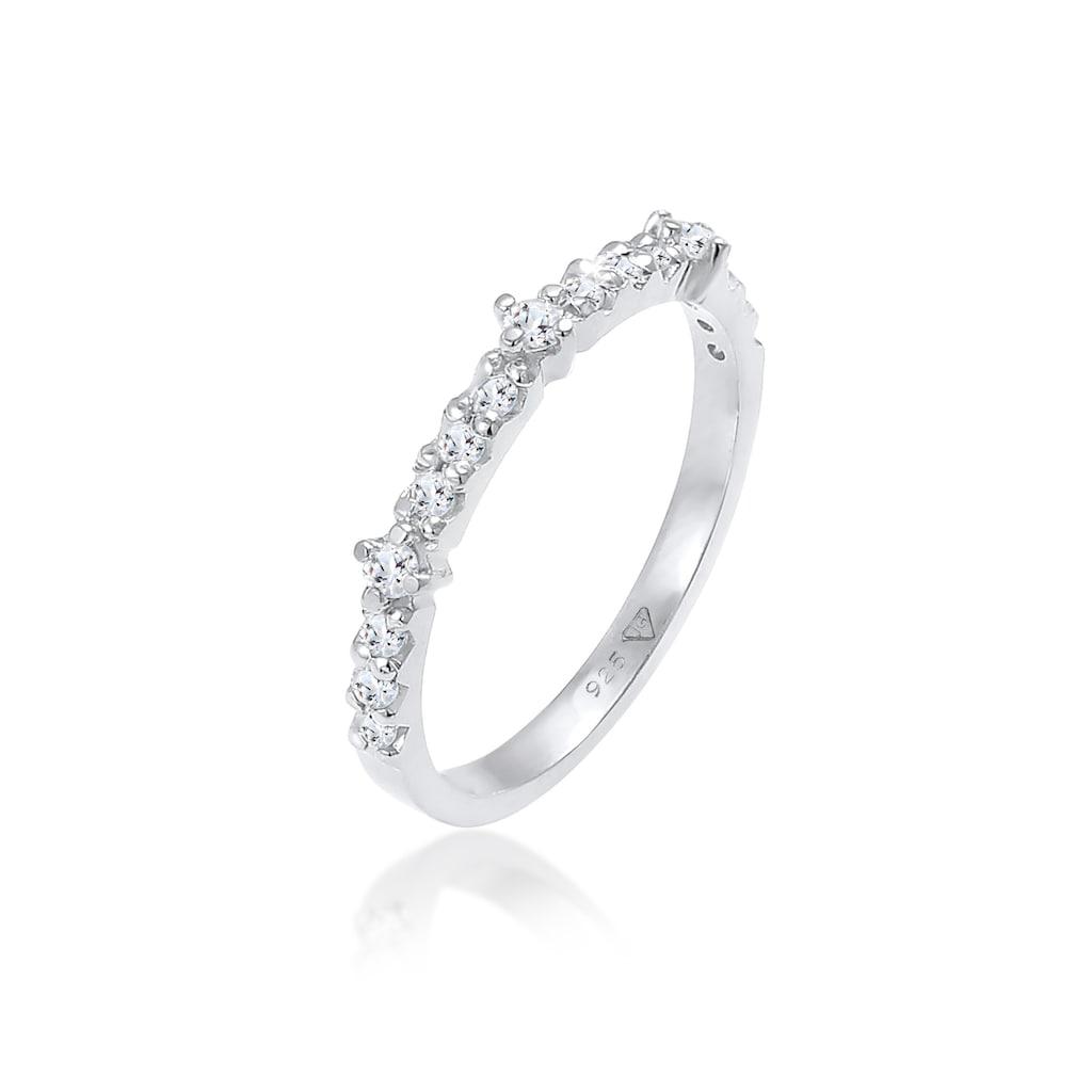 Elli Fingerring »Topas Memoire Eternity Verlobung 925 Silber«