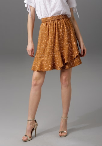 Aniston CASUAL Sommerrock, mit raffinierten Volants kaufen