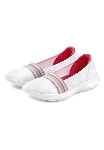 "LASCANA Slipper, ""Slip On"" federleichter Sneaker aus Mesh Material kaufen"