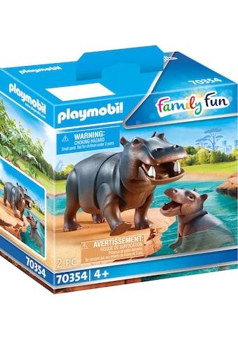 "Playmobil® Konstruktions - Spielset ""Flusspferd mit Baby (70354), Family Fun"", Kunststoff kaufen"
