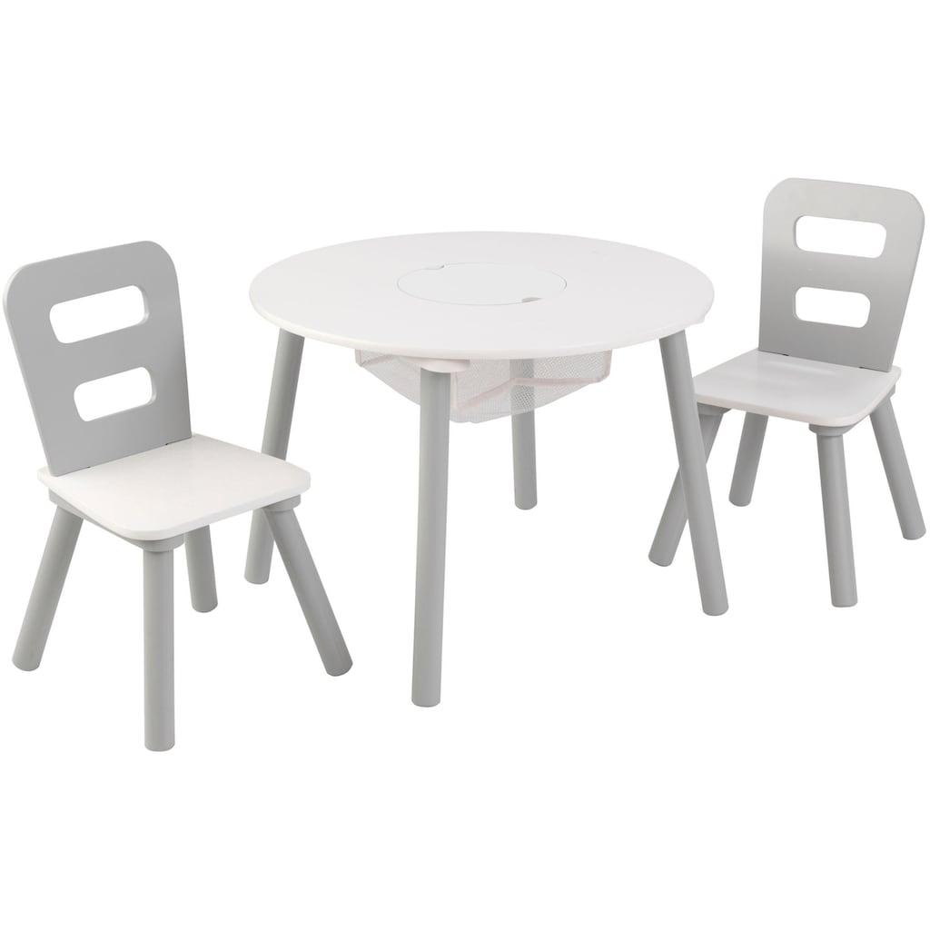 KidKraft® Kindersitzgruppe »Tisch mit Netzkörbchen und 2 Stühlen«, (3 tlg.)