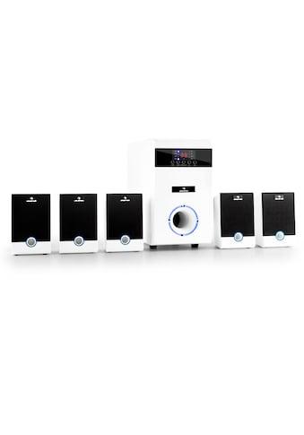Auna aktives 5.1 Surround Lautsprecher Set 95W RMS Fernbedienung weiß »MM - 5.1 - JW« kaufen
