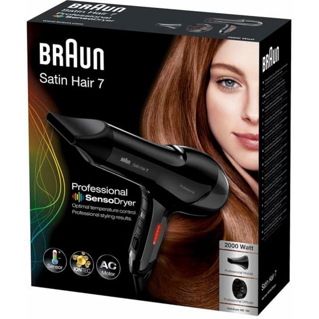 Braun Haartrockner »HD785«, 2000 W, 2 Aufsätze, mit Thermosensor und IONTECH Technologie