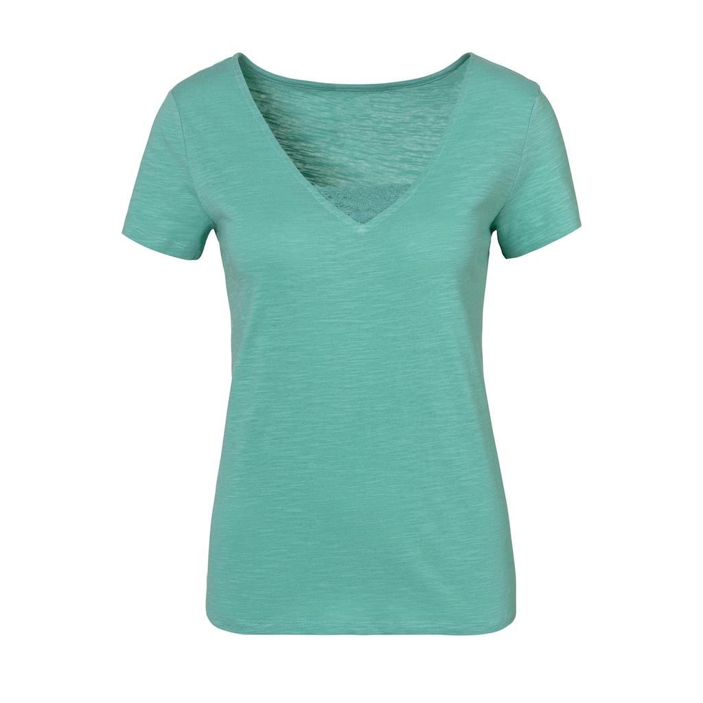 Vivance T-Shirt, mit schöner Spitze am Ausschnitt