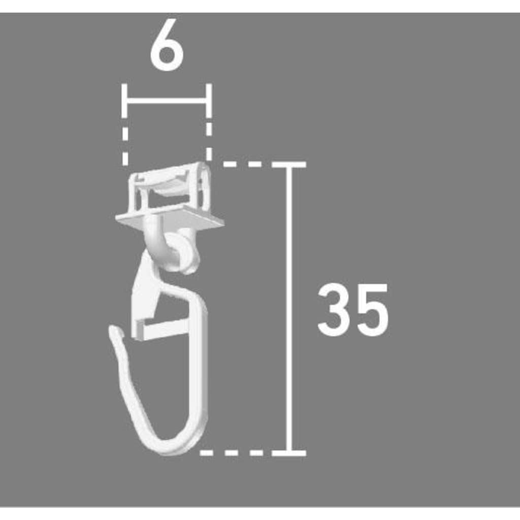 Good Life Klick-Gleiter »Alves«, (Packung, 100 St.), für Vorhangstangen mit breitem Lauf (6 mm)