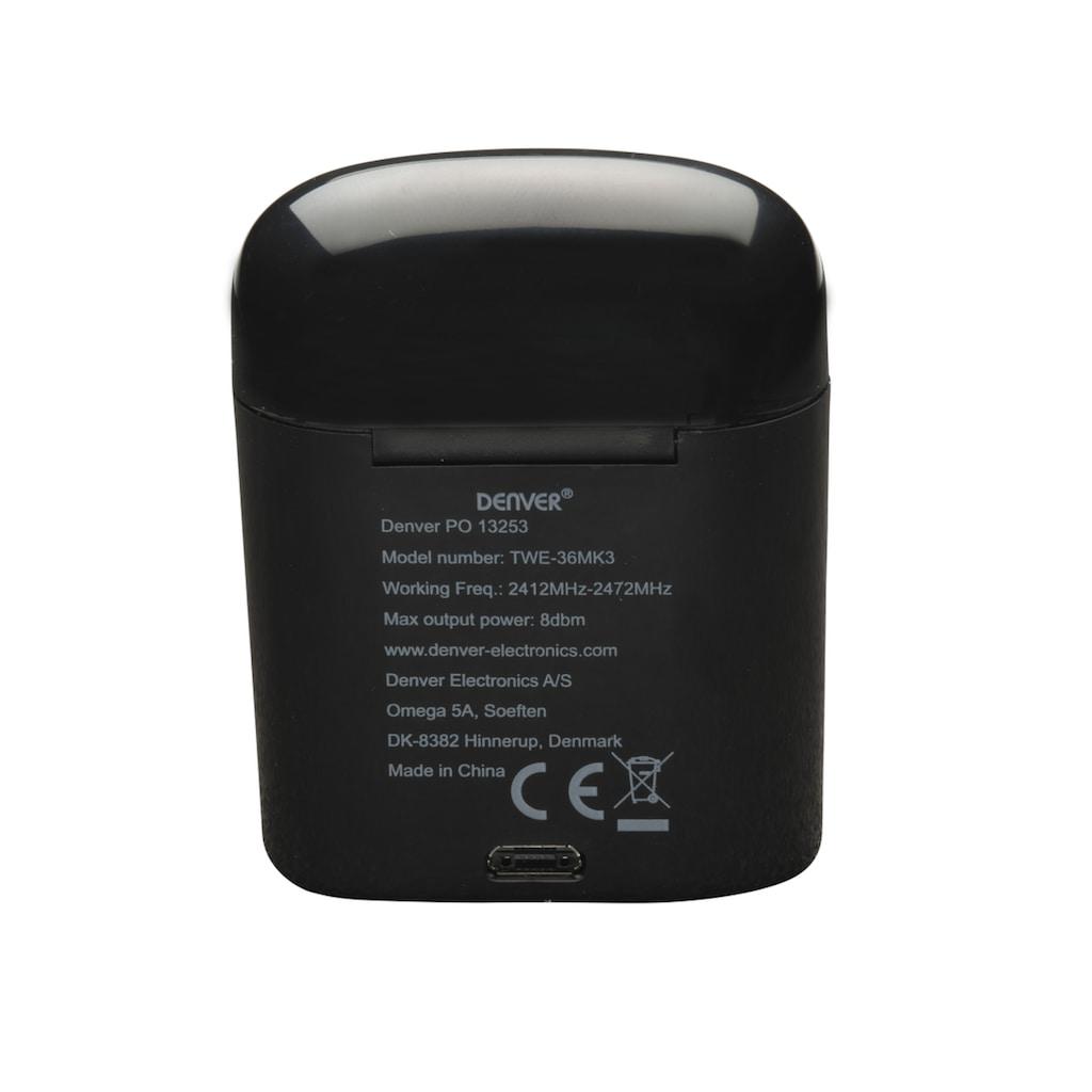 Denver Bluetooth-Kopfhörer »TWE-36MK3 Wireless BT Earbuds«, Bluetooth, Freisprechfunktion, Headset