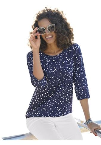 Classic Basics Shirt im flotten Tupfendessin kaufen