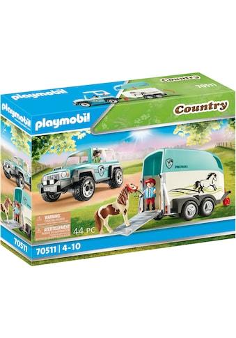 Playmobil® Konstruktions-Spielset »PKW mit Ponyanhänger (70511), Country«, Made in... kaufen