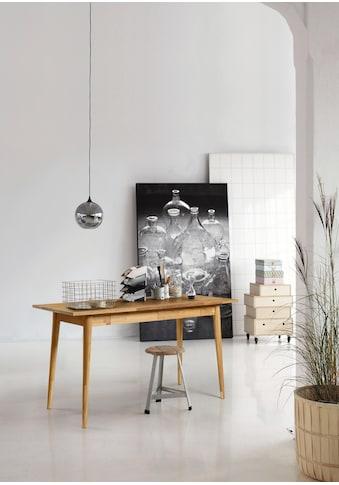 Home affaire Schreibtisch »Scandi«, aus schönem massivem Eichenholz, Breite 140 cm kaufen