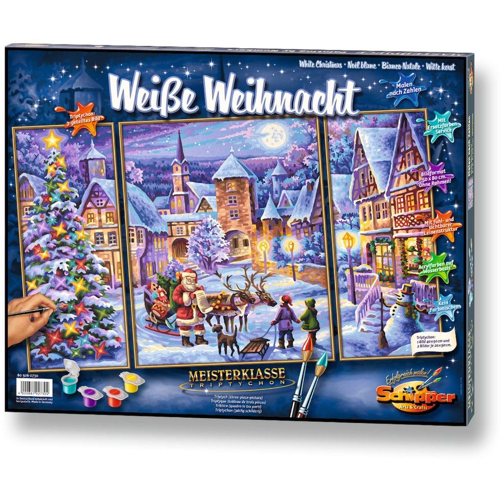 Schipper Malen nach Zahlen »Meisterklasse Triptychon Weiße Weihnacht«, Made in Germany
