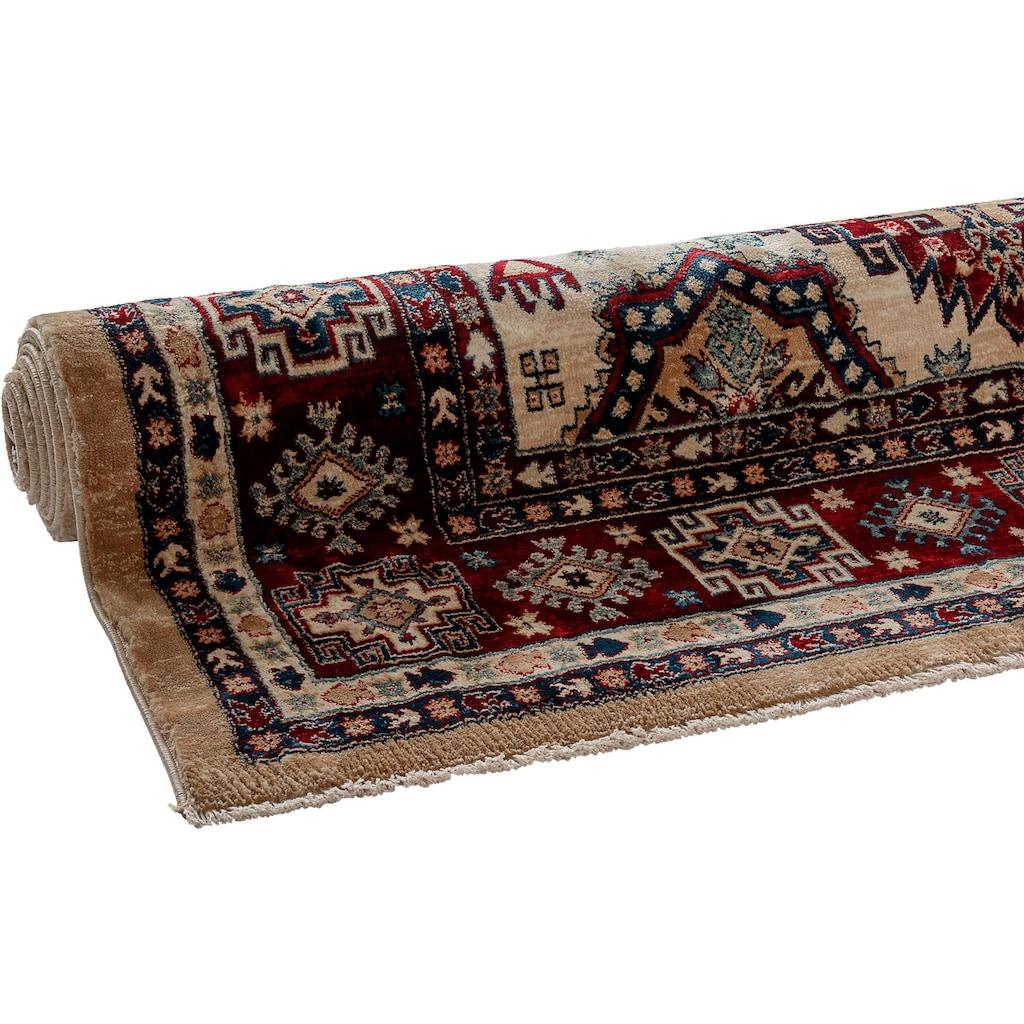 Sehrazat Teppich »Ornament 1354«, rechteckig, 10 mm Höhe, Kurzflor, Orient-Optik, mit Fransen, Wohnzimmer