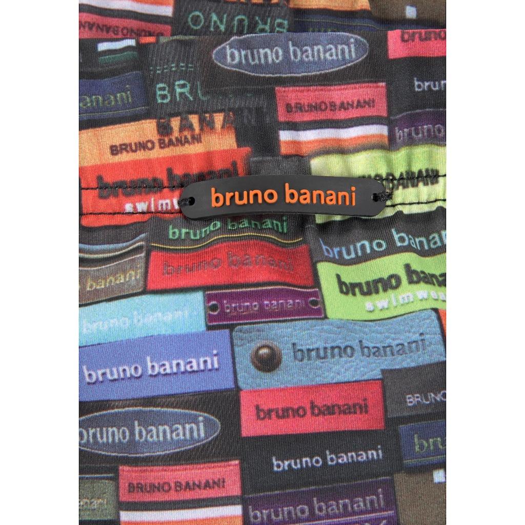 Bruno Banani Boxer-Badehose, mit buntem Logoprint