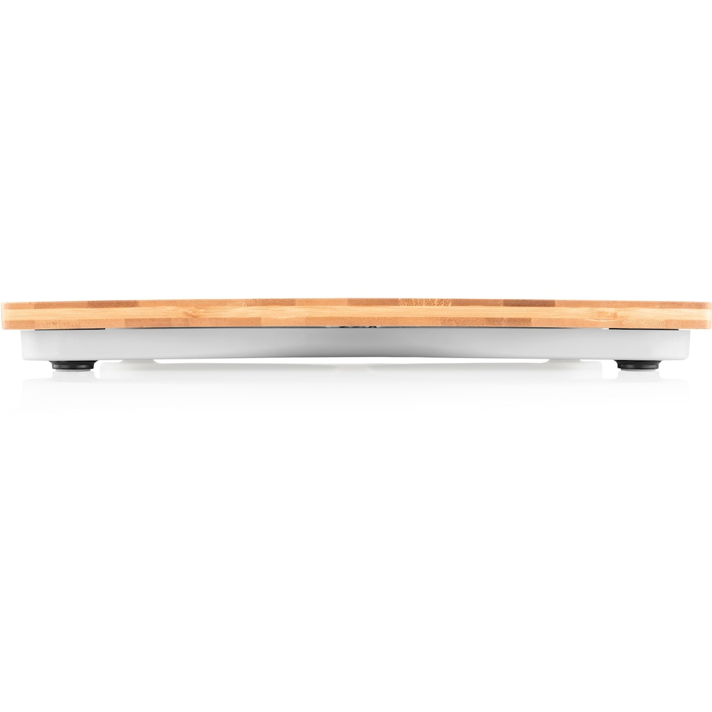 eta Personenwaage »BAMBOO ETA978090000«, Standfläche aus Bambus, LCD, bis 180 kg