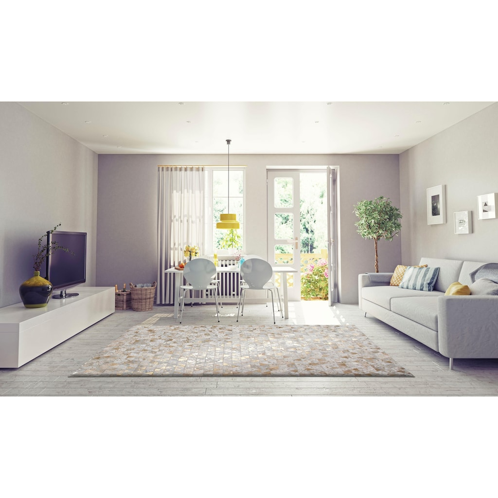 Leonique Lederteppich »Amir«, rechteckig, 8 mm Höhe, Wohnzimmer
