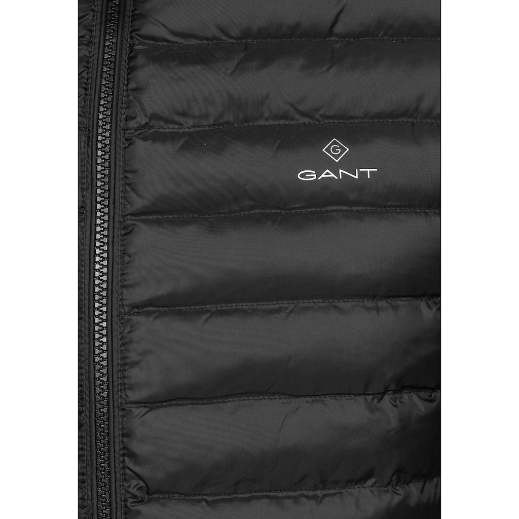 Gant Steppjacke »LIGHT PADDED JACKET«, für die Übergangsjahreszeit, ohne Daunen