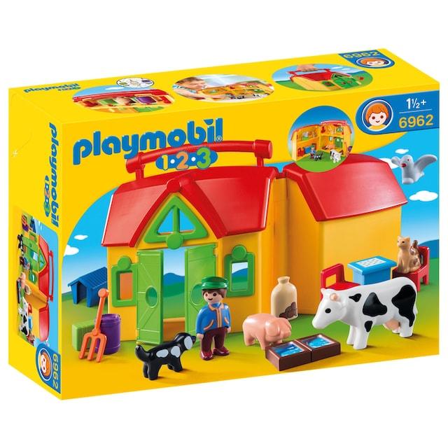 "Playmobil® Konstruktions-Spielset ""Mein Mitnehm-Bauernhof (6962), Playmobil1-2-3"", Kunststoff"