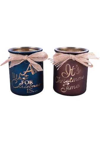 Home affaire Teelichthalter »Christmas« (Set, 2 Stück) kaufen