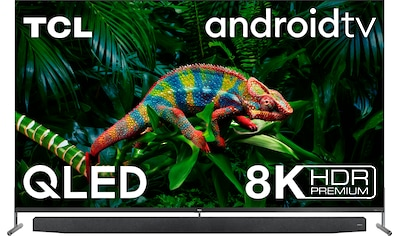 """TCL QLED-Fernseher »75X915«, 189 cm/75 """", 8K, Android TV, mit integrierter, ausfahrbarer Kamera und ONKYO Soundsystem kaufen"""