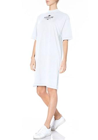 Replay Shirtkleid, mit Seitenschlitz und Logoprint kaufen