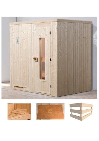 WEKA Sauna »Halmstad 1«, 194x144x199 cm, ohne Ofen, Holztür kaufen