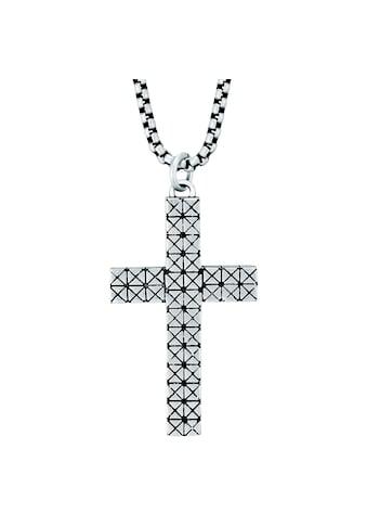 True Rebels Kreuzkette »LL985«, (1 tlg.), mit Kreuz kaufen
