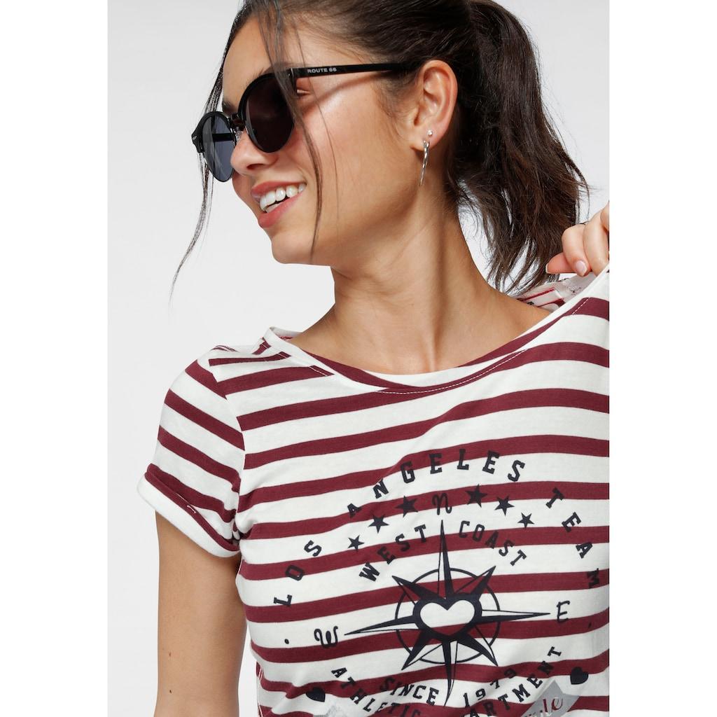 KangaROOS T-Shirt, mit großem Metallic-Print vorne