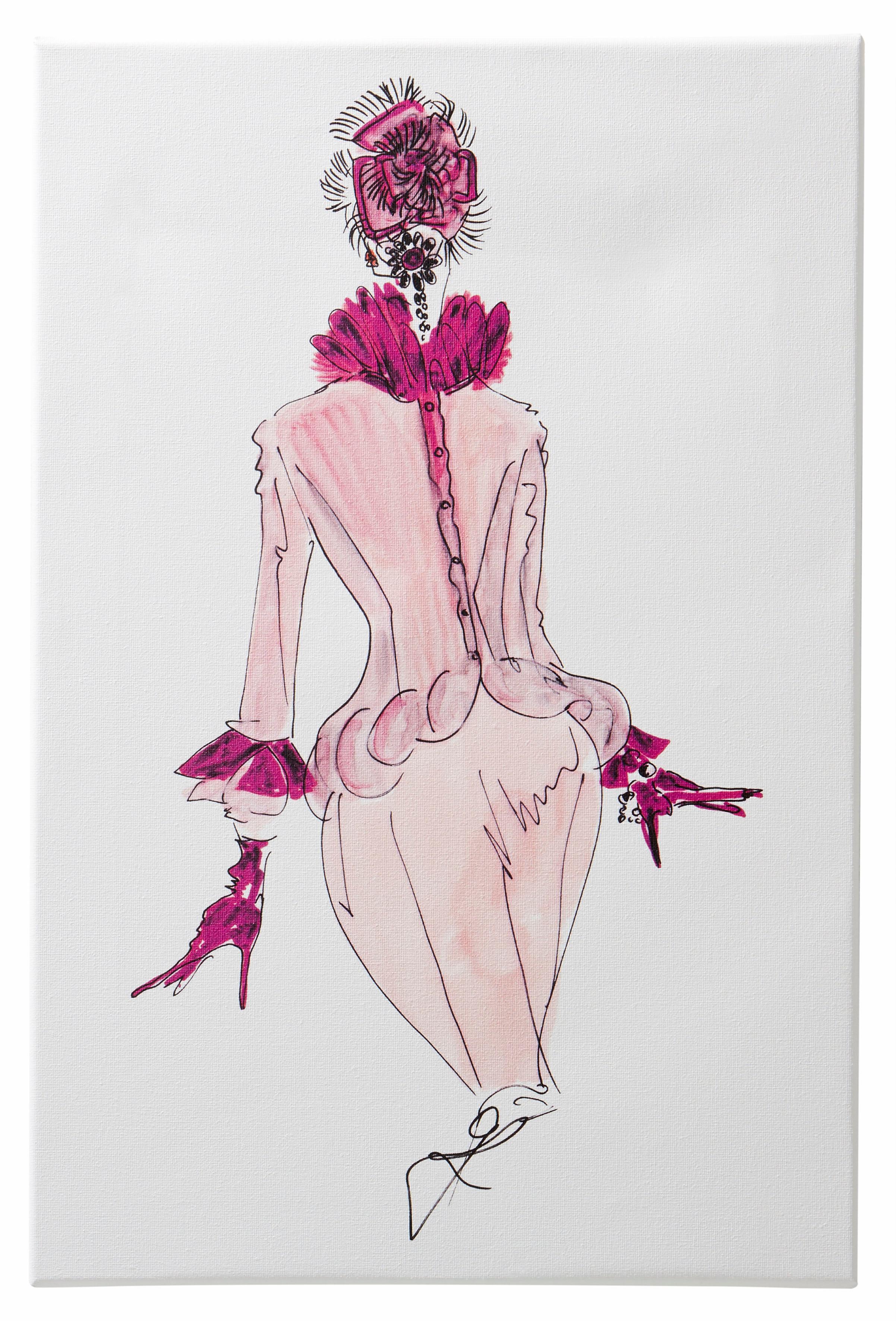 Guido Maria Kretschmer Home&Living Leinwandbild »Keilrahmenbild«, Mode Zeichnung
