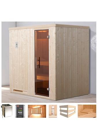 weka Sauna »Valida Eck 1«, 4,5 kW Bio-Kombiofen mit ext. Strg., Fenster kaufen