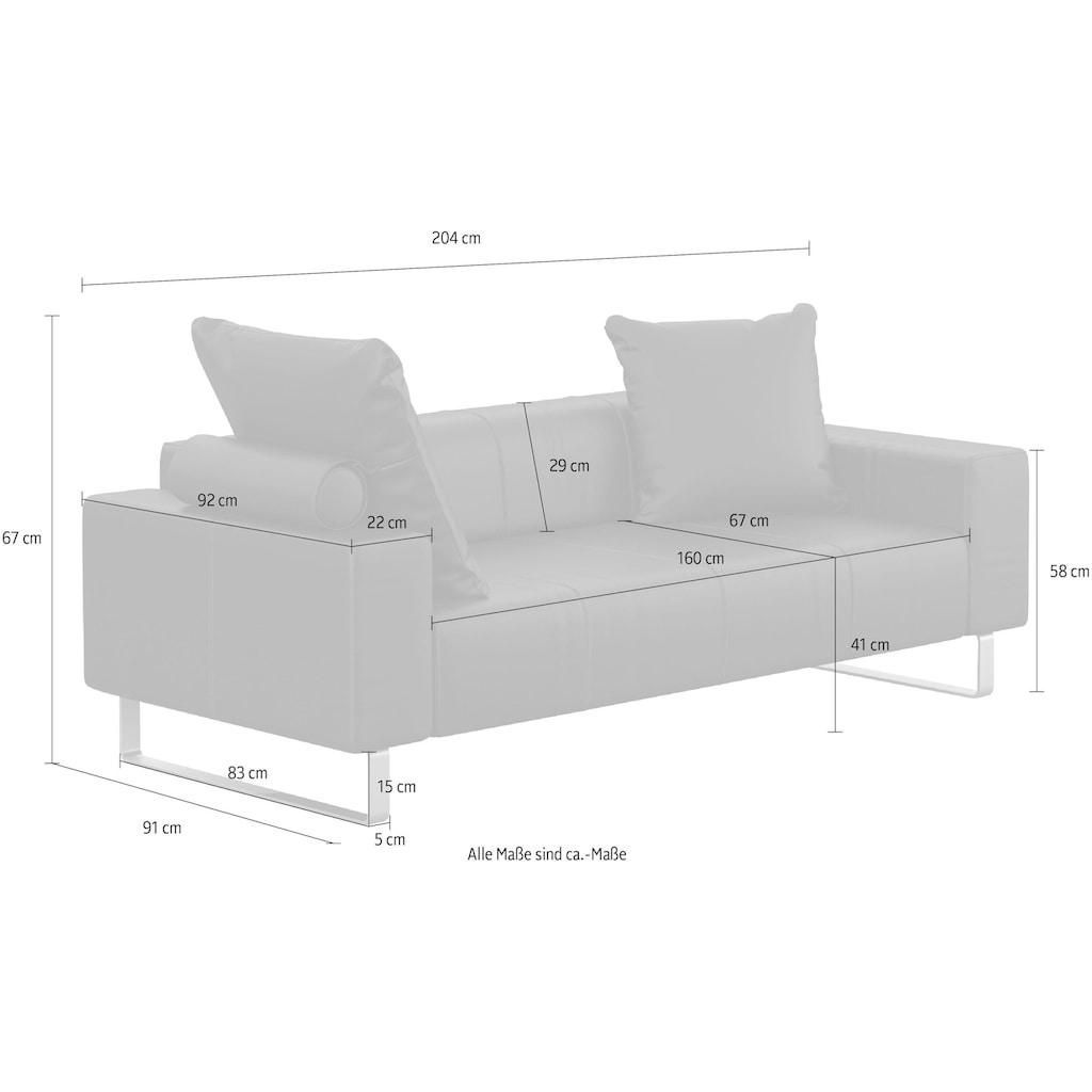 machalke® 2-Sitzer »groove«, mit GRATIS Ledertasche