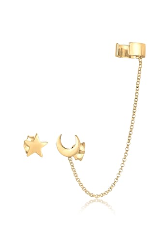 Elli Paar Ohrhaken »Earcuff Astro Sterne Halbmond Blogger 925 Silber« kaufen