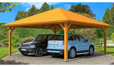 SKANHOLZ Doppelcarport »Taunus«, BxT: 634x634 cm kaufen