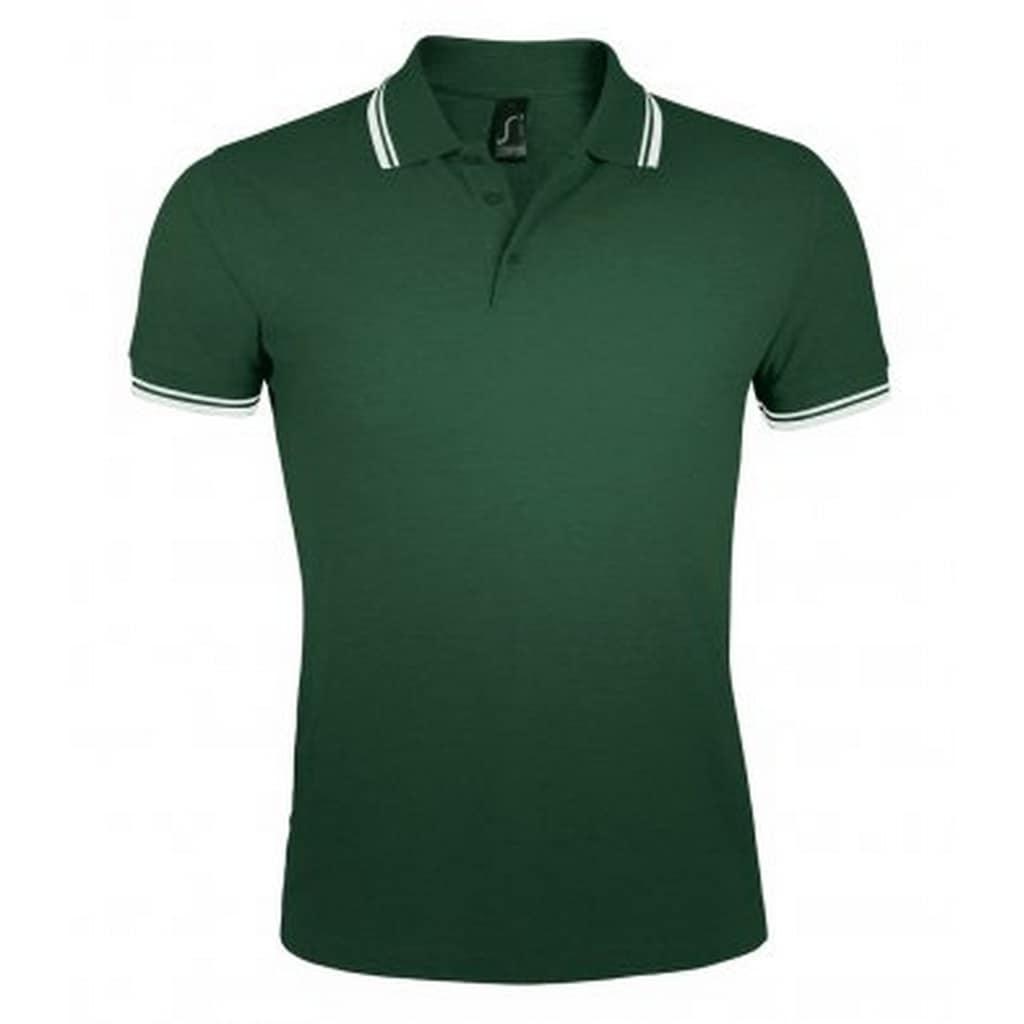 SOLS Poloshirt »Herren Pasadena Tipped Kurzarm Pique Polo«