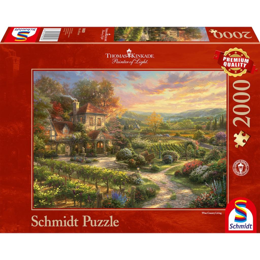 Schmidt Spiele Puzzle »In den Weinbergen«, Thomas Kinkade