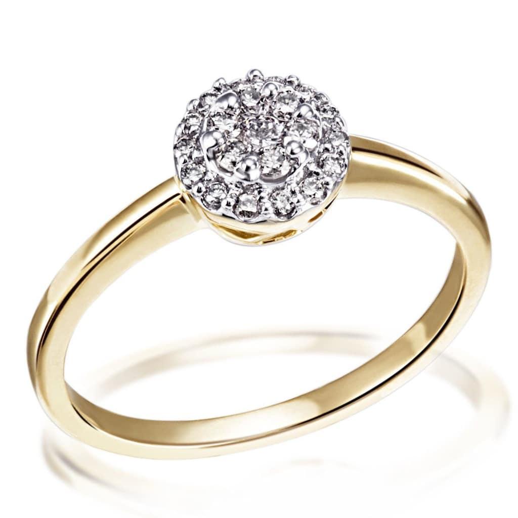 goldmaid Damenring Glamour 585 Gelbgold 21 Brillanten 0,25 ct. P1/KL
