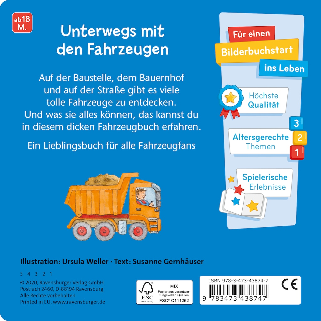 Buch »Was machen Autos, Bagger und Traktoren? / Susanne Gernhäuser, Ursula Weller«