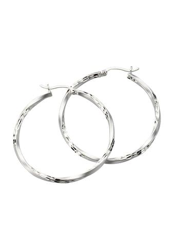 Zeeme Creolen »925/ -  Sterling Silber mattiert diamantiert« kaufen