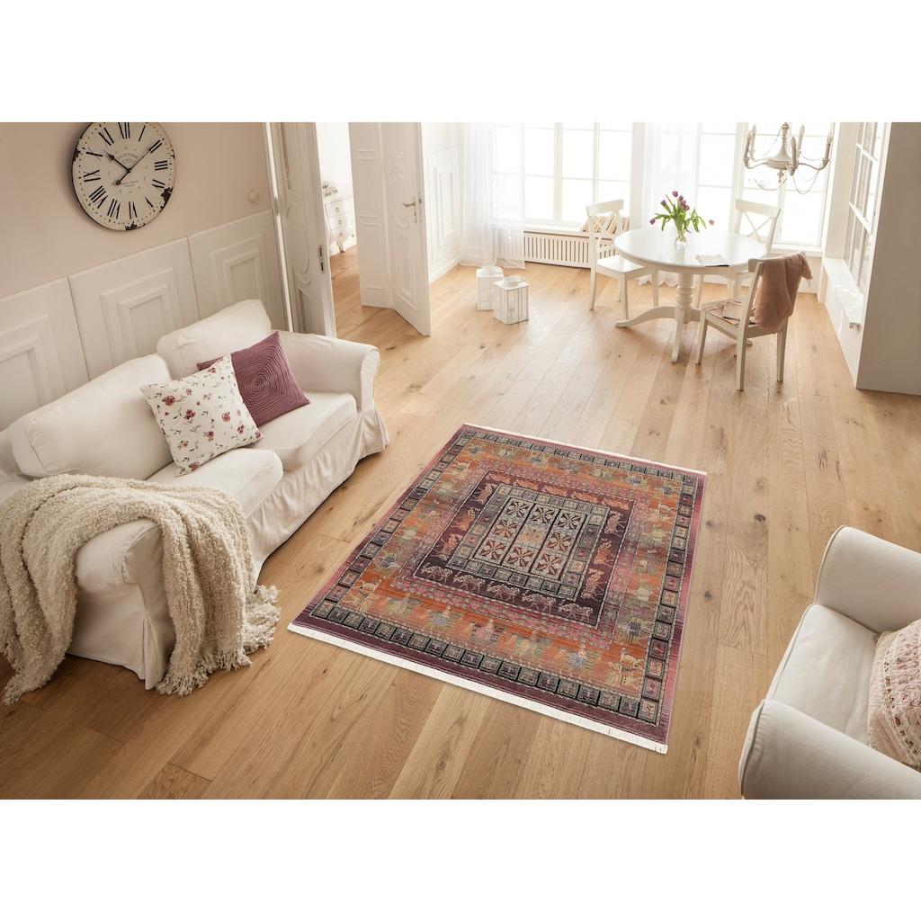 Oriental Weavers Teppich »Gabiro Pazyryk«, rechteckig, 11 mm Höhe, Orient-Optik, mit Fransen, Wohnzimmer