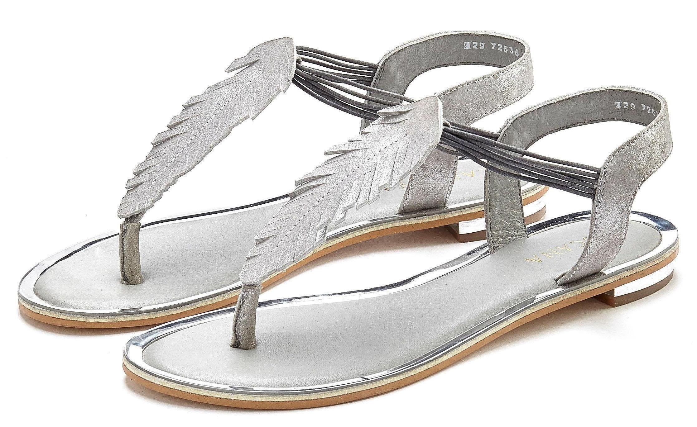 LASCANA Sandale Damen silberfarben Gr.42