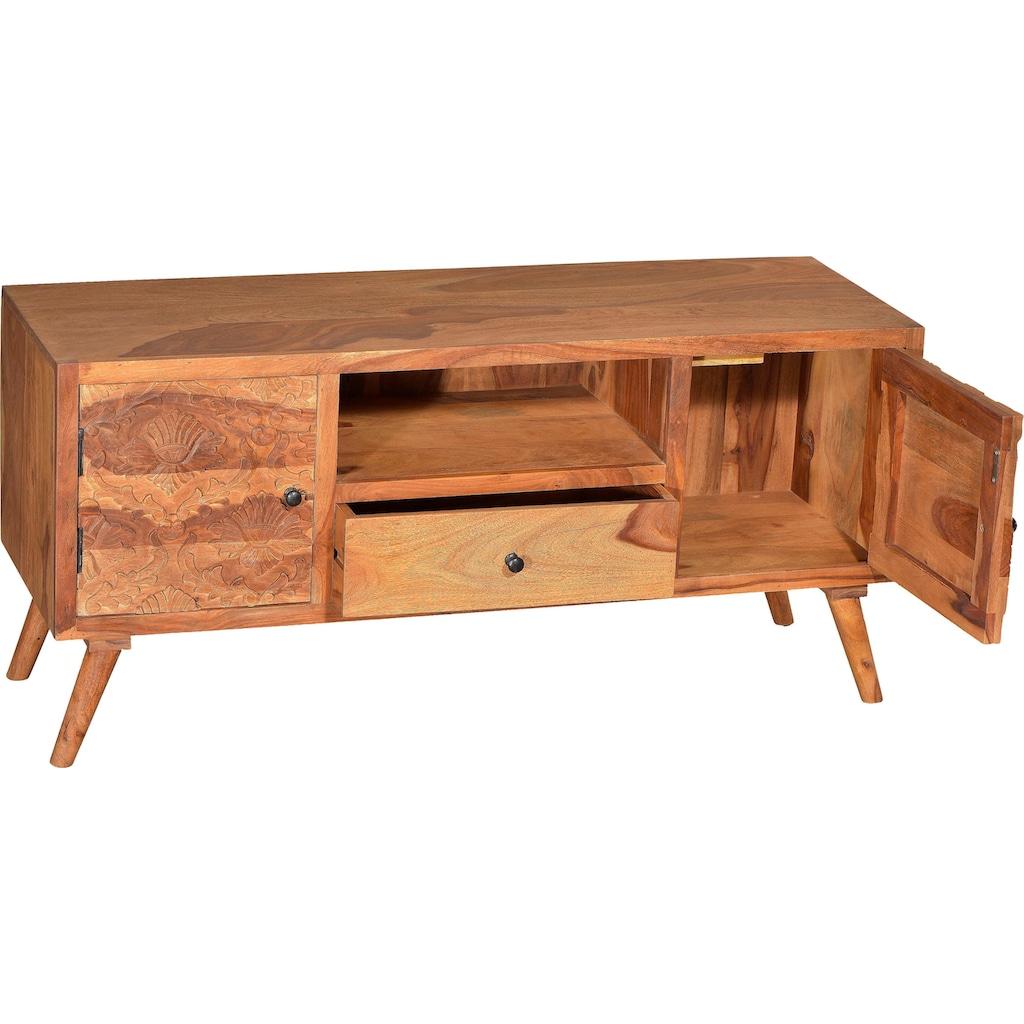 SIT Lowboard »Carved«, mit detailreichen Schnitzereien, Breite 130 cm