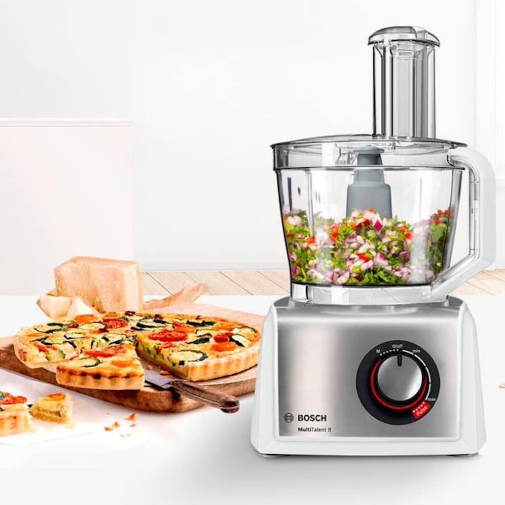 BOSCH Kompakt-Küchenmaschine »MultiTalent 8 MC812S814«, 1250 W, 3,9 l Schüssel
